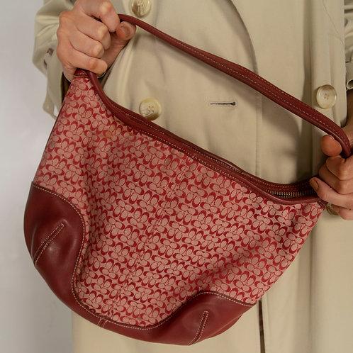 Vintage Coach Red Monogram Bag