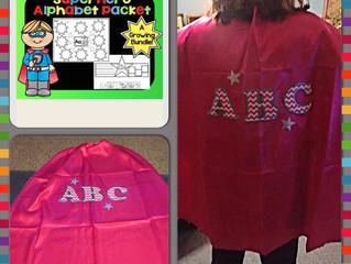 Back to School Alphabet Superheroes
