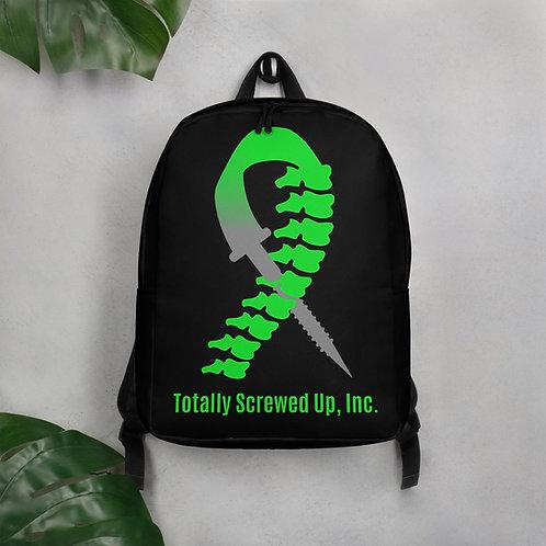 Black Minimalist Backpack