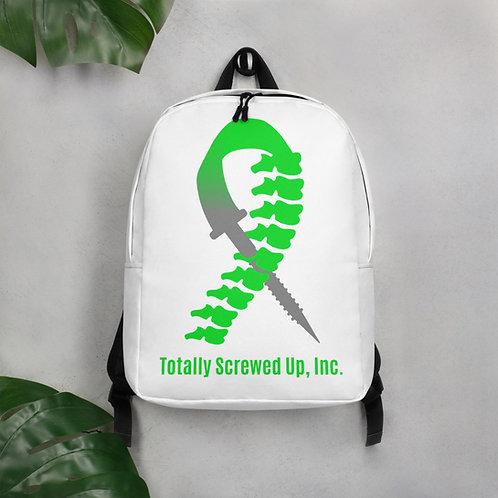 White Minimalist Backpack