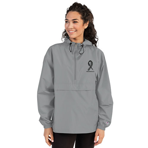 Embroidered (Black) Champion Packable Jacket
