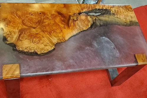 Big leaf Maple & Epoxy Coffee Table