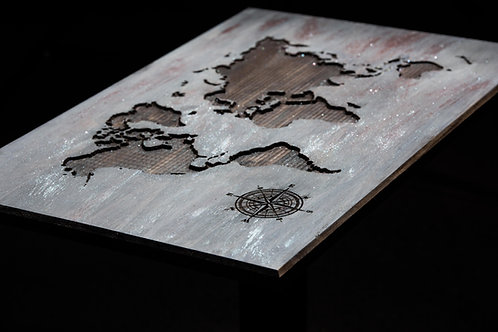 Carved World Maps