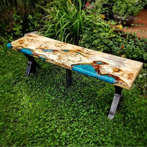 Mappa Wood with Turquoise Epoxy