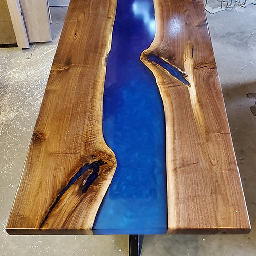 Black Walnut Blue Ombre Epoxy river Coffee Table