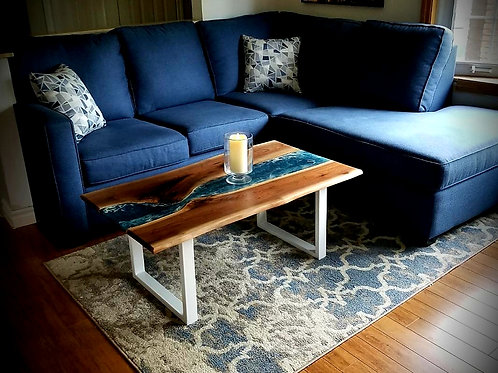 Black Walnut River & Waves Coffee Table