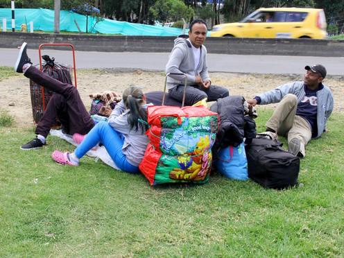 [FOTOPERIODISMO] Venezolanos en El Salitre