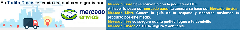 En Todito Cosas el envío es totalmente gratis por mercado envíos