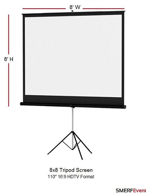 8x8 Tripod Screen