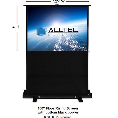 "100"" Floor Rising Screen"