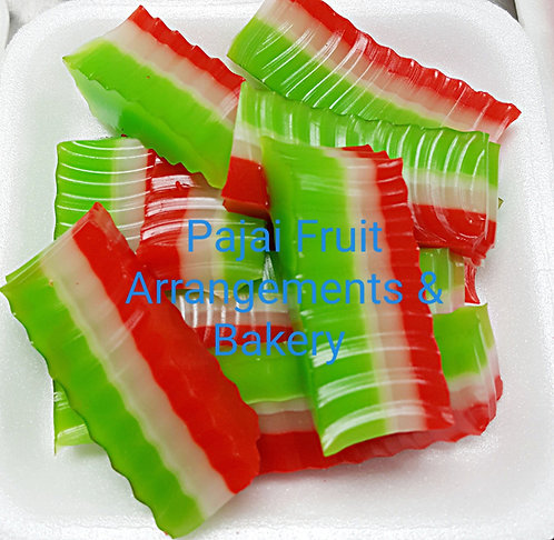 "Large party tray ""Hmong Coconut-Pandan layer jello"""