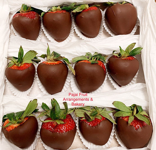 Dozen chocolate dipped strawberry