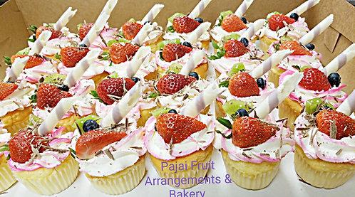 24 Sponge Fruit cupcakes