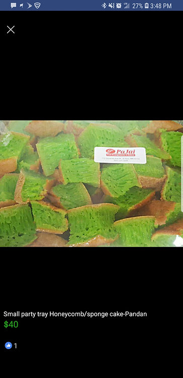 Smallparty tray Honeycomb/sponge cake-Pandan