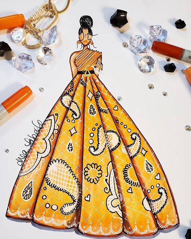 Tangerine #drealabelle #fashionillustrat