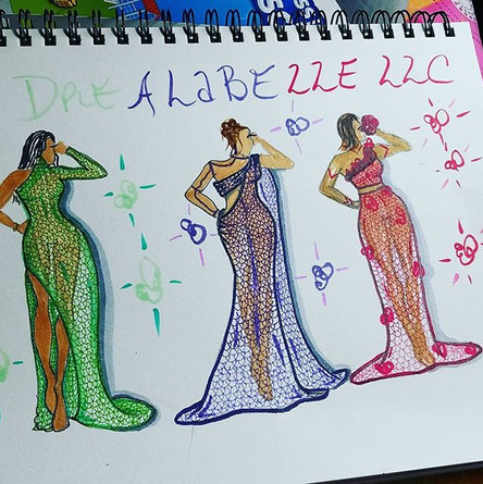A few more lace gowns from the line #dre