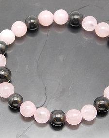 Shungite and Rose Quartz Bracelet