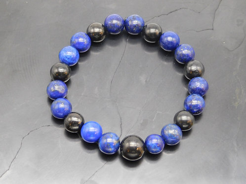 Shungite and Lapis Bracelet