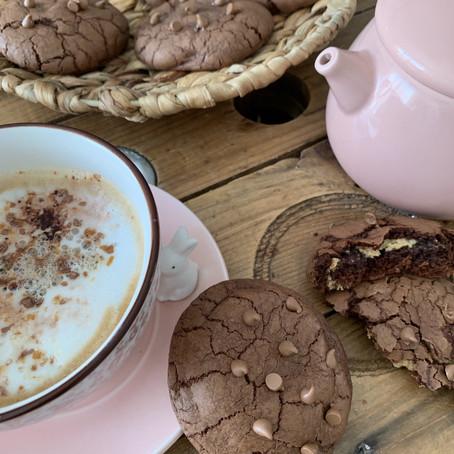 Cookies tout chocolat coeur beurre de cacahuètes