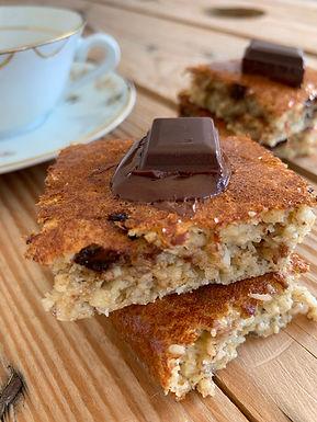 Gâteau Light à la banane et au chocolat