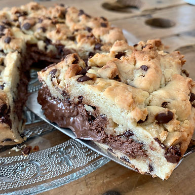 Cookies géant coeur coulant au Nutella