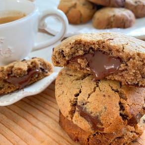 Cookies à la farine de châtaigne et son cœur coulant au Nocciolata
