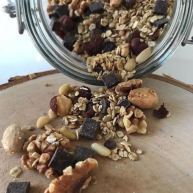 Granola aux Fruits secs et Chocolat noir