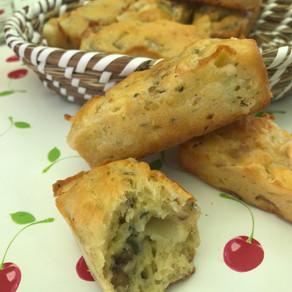 Minis cakes roquefort et noix