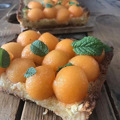 La tarte amandine au melon