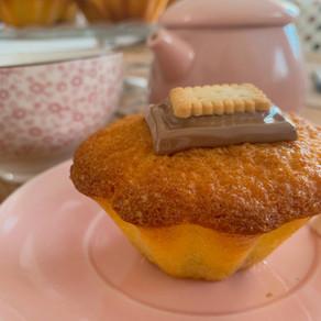 Muffins à la noisette et son coeur coulant au Nocciolata Bianca