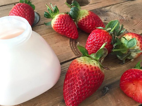 Yaourt à boire à la fraise