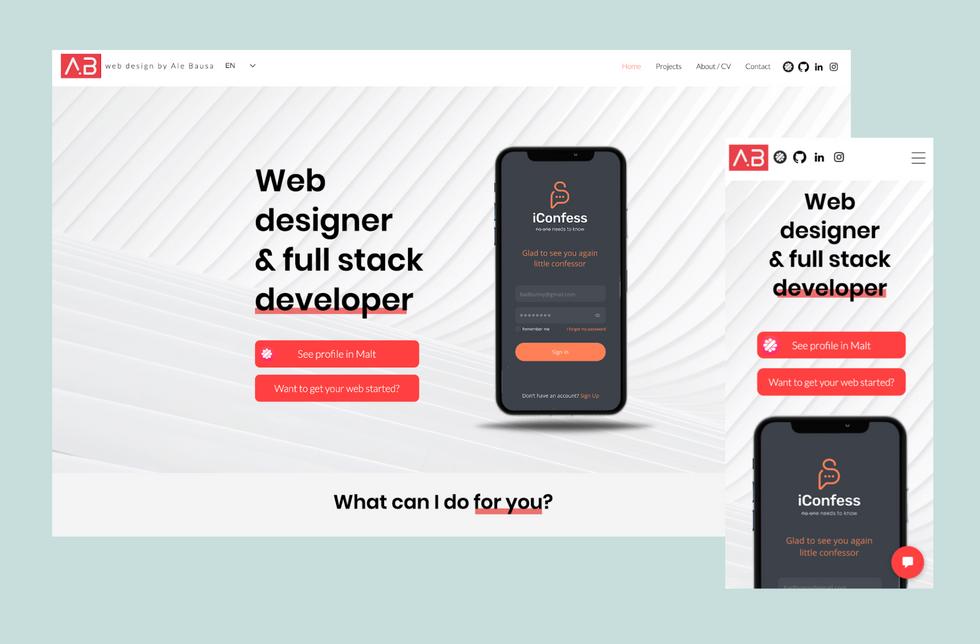 Portfolio de diseñador web
