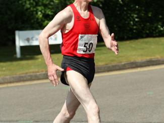 Veteran Athlete John Borgars completes Redcar 100mile Race Walk