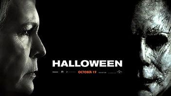 jamie lee curtis and james jude courtney halloween movie poster