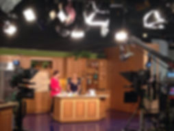 nbc tv studi with host and guest sarah hamilton