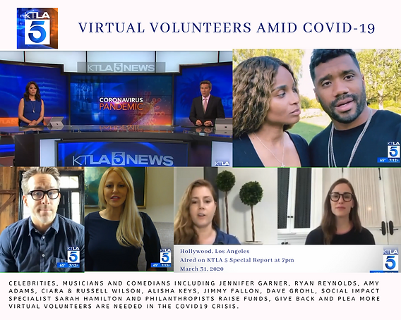 KTLA 5 Special Report Sarah Hamilton Hollywood Virtual Volunteers Amid COVID19