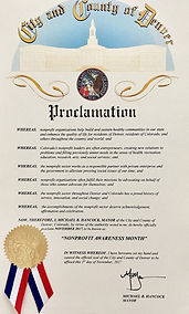 Proclamation City Denver Nonprofit Awareness