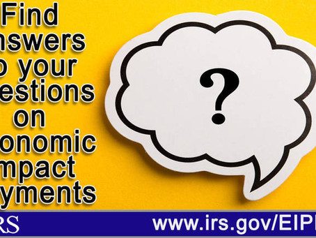 Answers to common questions about the Economic Impact Payments (Stimulus Checks)