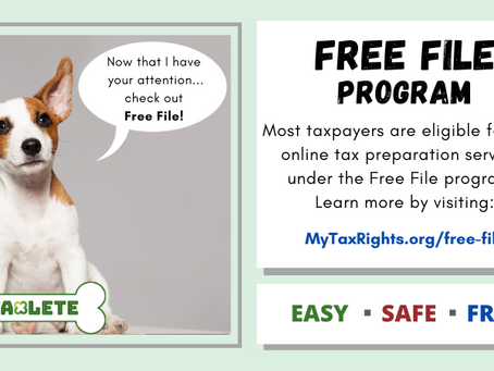 File your taxes for free through the Free File program