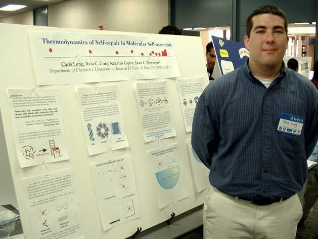 First student poster at UTEP with Chris Long