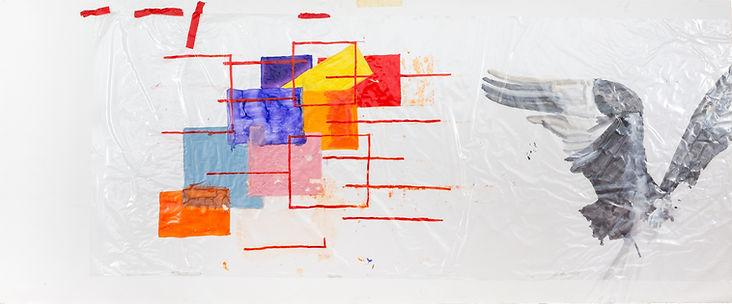 Embleme 2 (2015),Mixed media on plastic