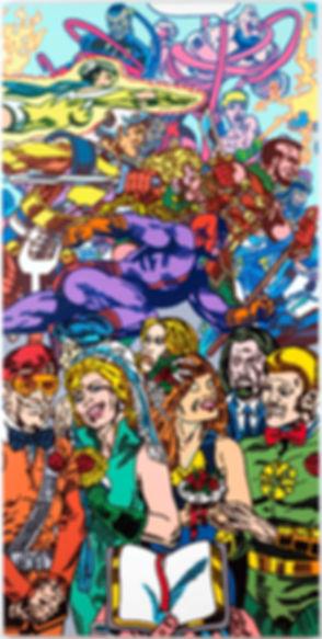 double wedding, 1995, acrylic on canvas