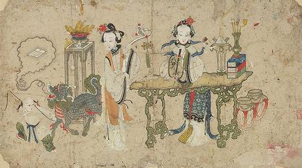 016. 年画00081 Qilin Disgorges the Jade Bo