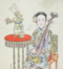 101. 年画01250 中国美术馆藏 天津杨柳青 邵宇捐赠:Lady Play