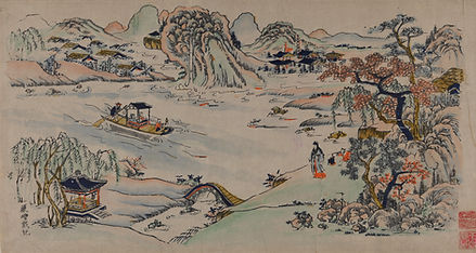092. 年画00135 中国美术馆藏 天津杨柳青年画:Huangzhou To