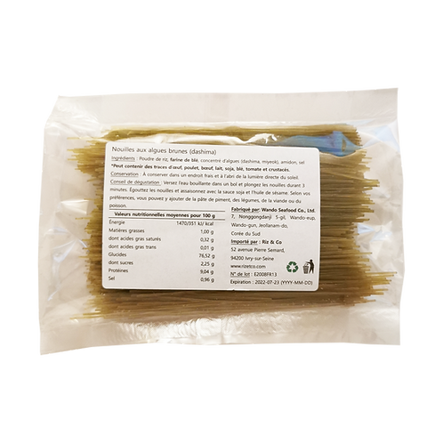 Nouilles aux algues brune (dashima) 160 g