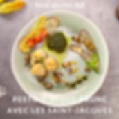 Pesto d'algue brune avec les saint-jacqu