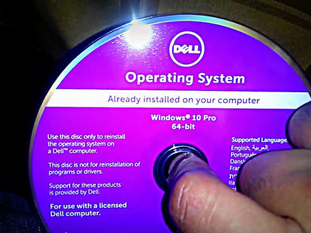 How to do a fresh install of Windows 10 with purple Dell DVD