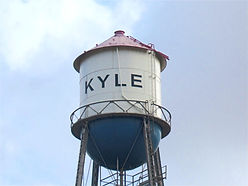 Kyle Texas Downtown Water Tower