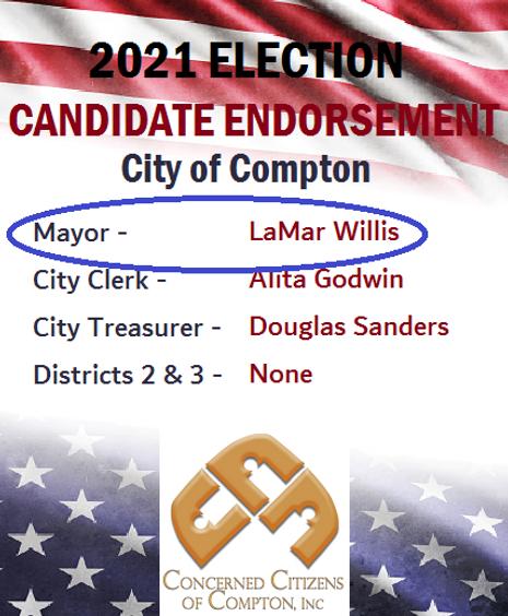 Concerned Citizens 2021 endorsement meme